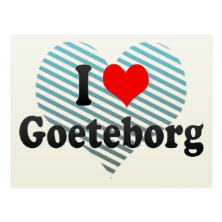 I Love Goeteborg, Sweden Postcard