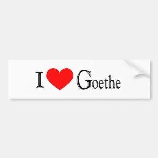 I Love Goethe Bumper Sticker