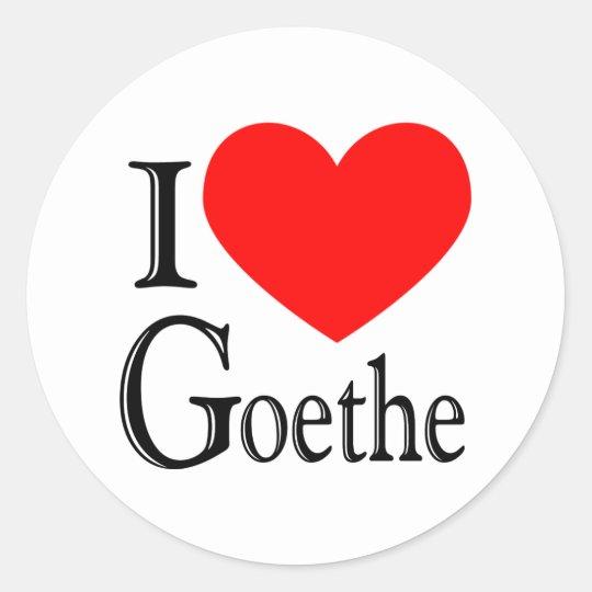 I Love Goethe Classic Round Sticker