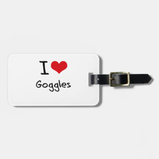 I Love Goggles Tag For Bags