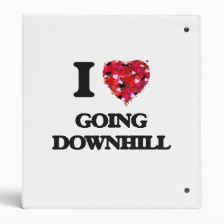 I Love Going Downhill Vinyl Binders