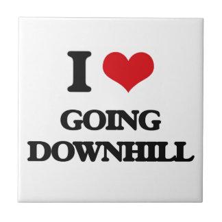 I love Going Downhill Ceramic Tile