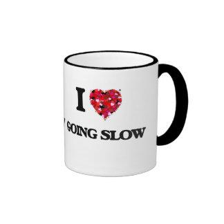 I Love Going Slow Ringer Coffee Mug