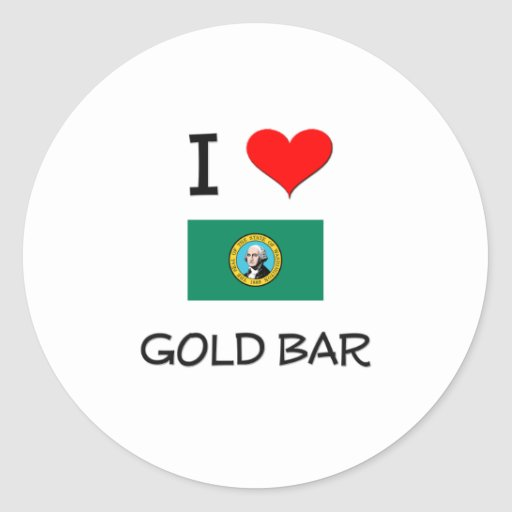 I Love Gold Bar Washington Classic Round Sticker