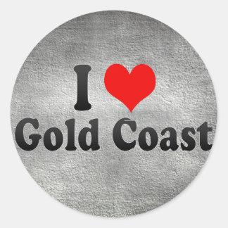 I Love Gold Coast, Australia Classic Round Sticker