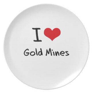 I Love Gold Mines Dinner Plate