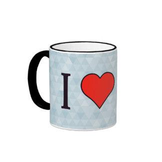 I Love Gold Ringer Mug