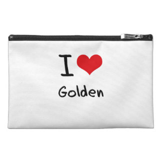 I Love Golden Travel Accessories Bag