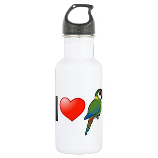 I Love Golden-collared Macaws Water Bottle