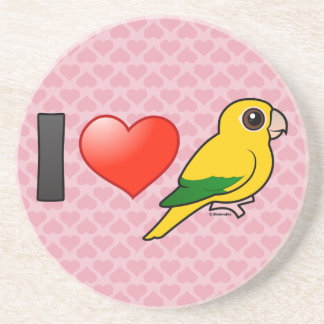 I Love Golden Conures Coasters