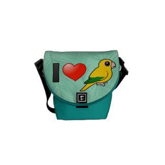 I Love Golden Conures Messenger Bag