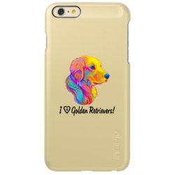 Incipio Feather® Shine iPhone 6 Plus Case with Golden Retriever Phone Cases design