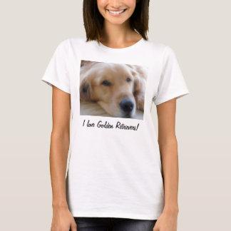 I Love Golden Retrievers! v2 T-Shirt