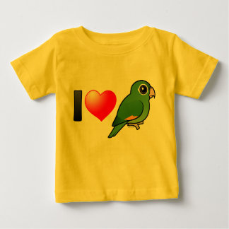 I Love Golden-winged Parakeets Baby T-Shirt