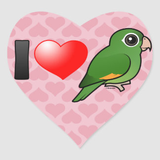 I Love Golden-winged Parakeets Heart Sticker