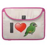 I Love Golden-winged Parakeets Sleeves For MacBooks