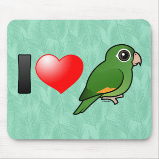 I Love Golden-winged Parakeets Mousepad