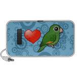 I Love Golden-winged Parakeets Notebook Speaker