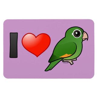 I Love Golden-winged Parakeets Rectangular Photo Magnet