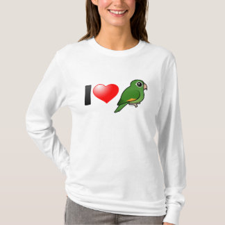 I Love Golden-winged Parakeets T-Shirt