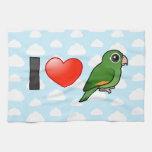 I Love Golden-winged Parakeets Towel
