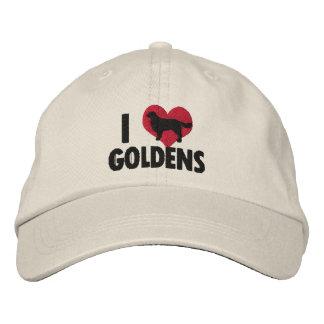 I Love Goldens Embroidered Hat