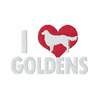 I Love Goldens Embroidered Hooded Sweatshirts