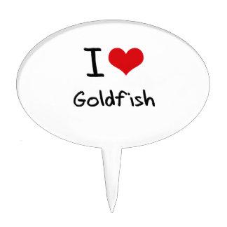 I Love Goldfish Cake Toppers
