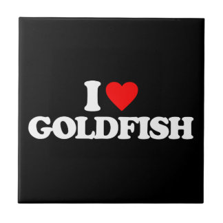 I LOVE GOLDFISH CERAMIC TILES