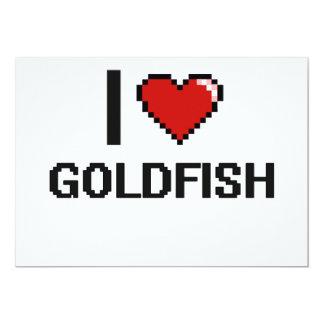 I love Goldfish Digital Design 5x7 Paper Invitation Card