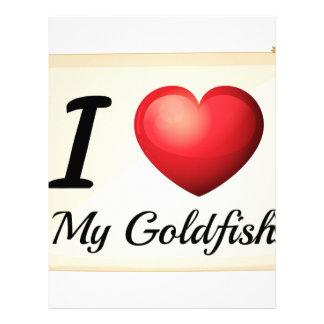 I love goldfish letterhead