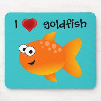 I Love Goldfish Mouse Pad