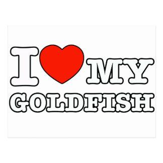 I Love goldfish Postcard