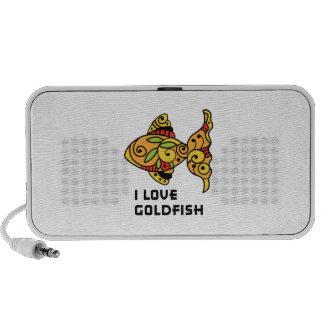 I Love Goldfish Portable Speaker