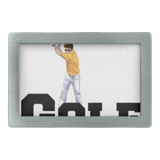 I Love Golf 01 Belt Buckle