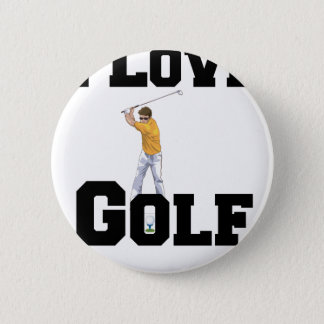 I Love Golf 01 Pinback Button