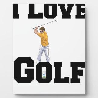 I Love Golf 01 Plaque