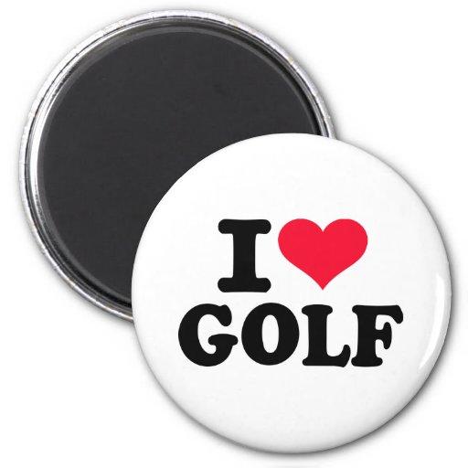 I love Golf 2 Inch Round Magnet