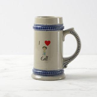 I Love Golf (3) Beer Stein