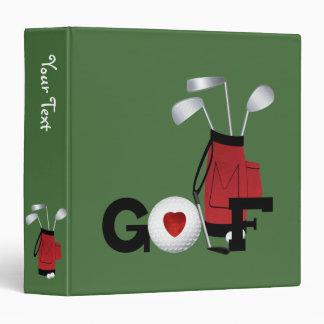 I Love Golf 3 Ring Binder