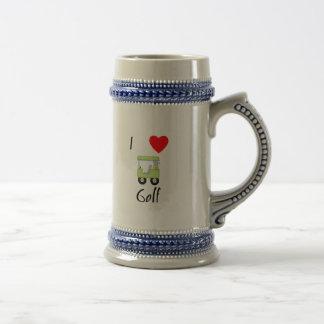 I Love Golf (4) Beer Stein