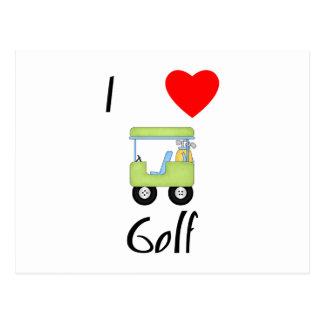 I Love Golf (4) Postcard