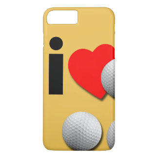 I Love Golf... Add Your Own Colors. iPhone 8 Plus/7 Plus Case