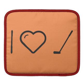 I Love Golf Bats iPad Sleeves