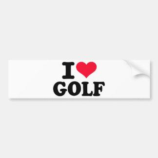 I love Golf Bumper Sticker