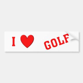 I Love Golf Bumper Stickers