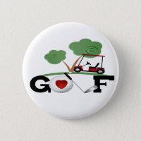 I Love Golf Button