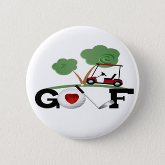 I Love Golf Button