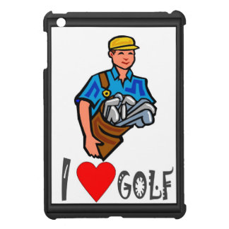 I love golf, carrying clubs case for the iPad mini