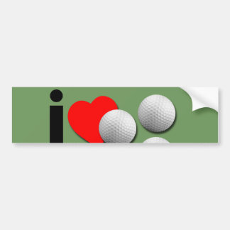 I Love Golf ..Choose Your Own Colors. Bumper Sticker
